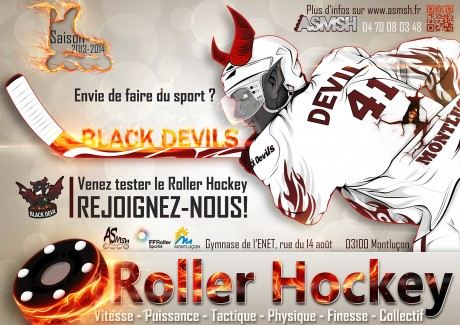 Affiche recrutement Roller Hockey